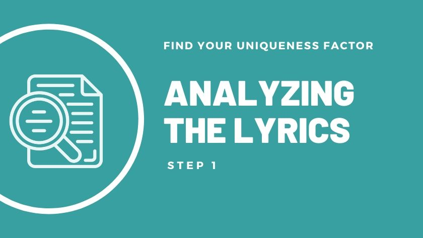 Analyzing the lyrics of a song.